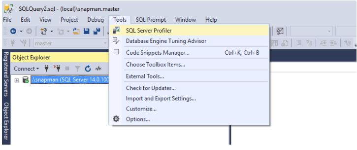 Manage a trace session using T-SQL